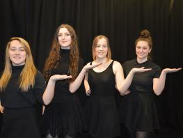 City of Glasgow College students perform in Bouncers and Shakers