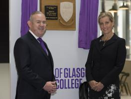 Her Royal Highness the Countess of Wessex has formally opened City of Glasgow College's award winning City campus