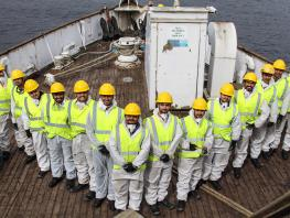 HND Nautical Student help restore TS Queen Mary