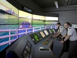 City of Glasgow College Riverside campus - ships simulation suite