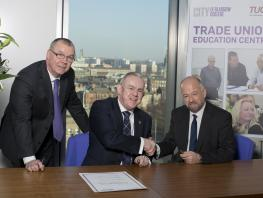 City of Glasgow College Trade Union Education Centre Partnership Signing
