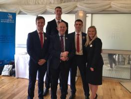 EuroSkills2018_UK Parl Send-Off_LtoR Ross, Mark, Principal Little, Callum, Nicolle