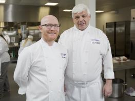Chef lecturer, Gary MacLean; Curriculum Head for Food, Willie McCurrach
