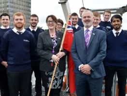 Dr Nicola Crawford, Faculty Director of Nautical Studies pictured with our cadets