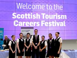 Scottish Tourism Festival CoGC Cabin Crew Students