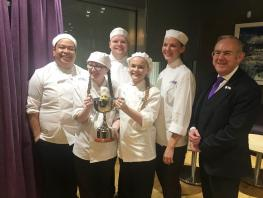 Team City, HND Professional Cookery students, winners Atlantic Cup Challenge 2018