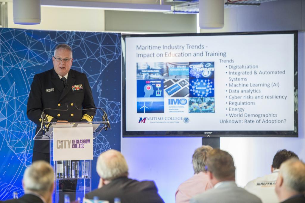 CoGC Smart Shipping Symposium, Rear Admiral Michael Alfultis