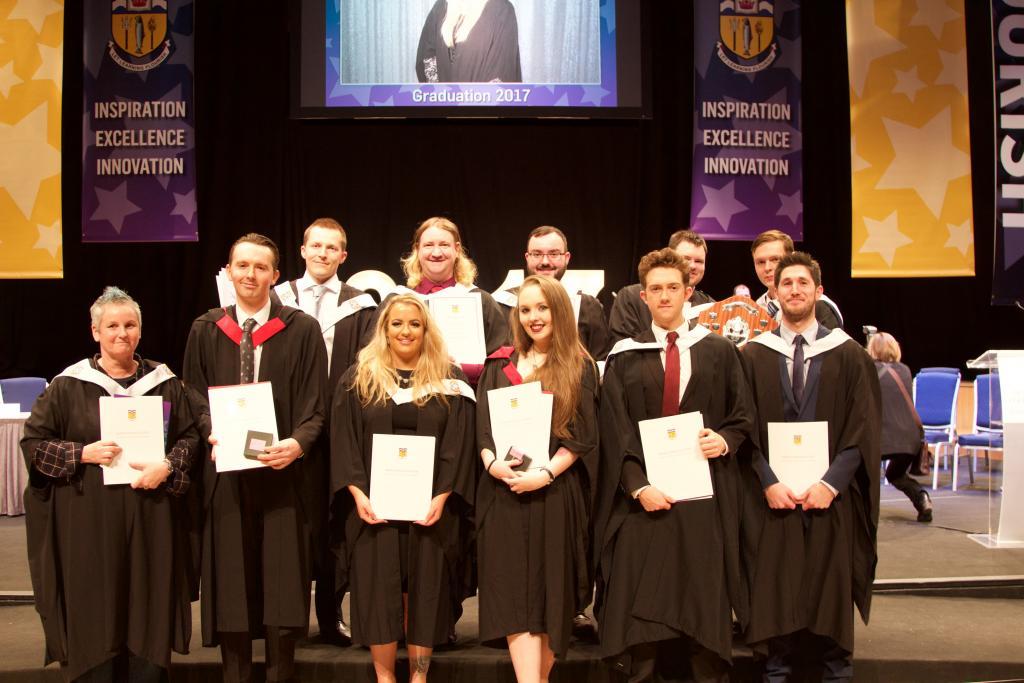 Photo of pupils at award ceremony
