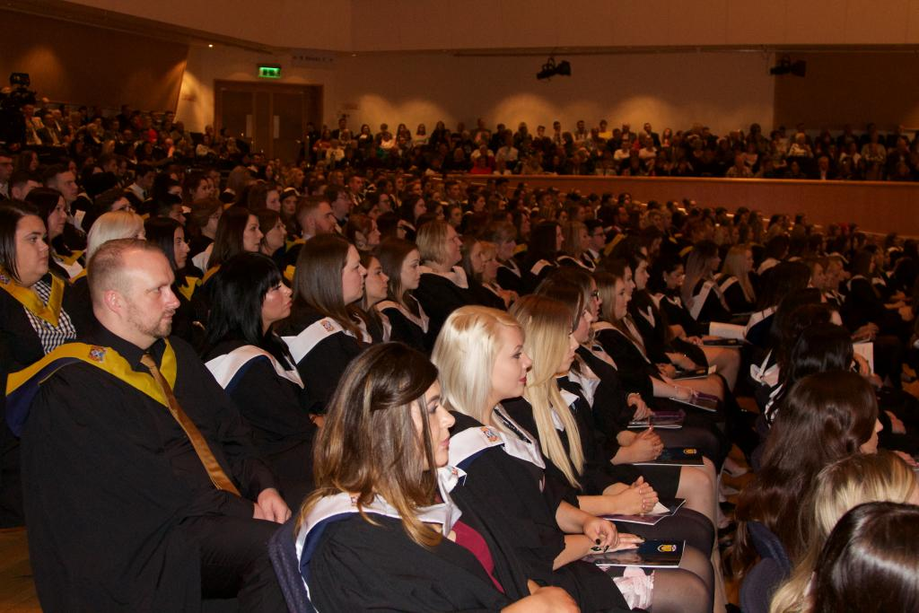 Audience and pupils at award ceremony