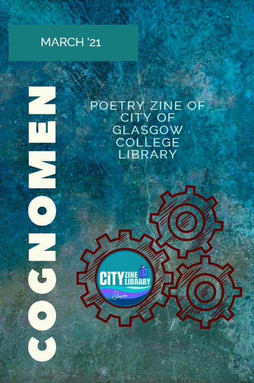 Image of poetry zine by City of Glasgow College students