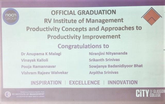 City of Glasgow College welcomes RV Institute of Management_June19