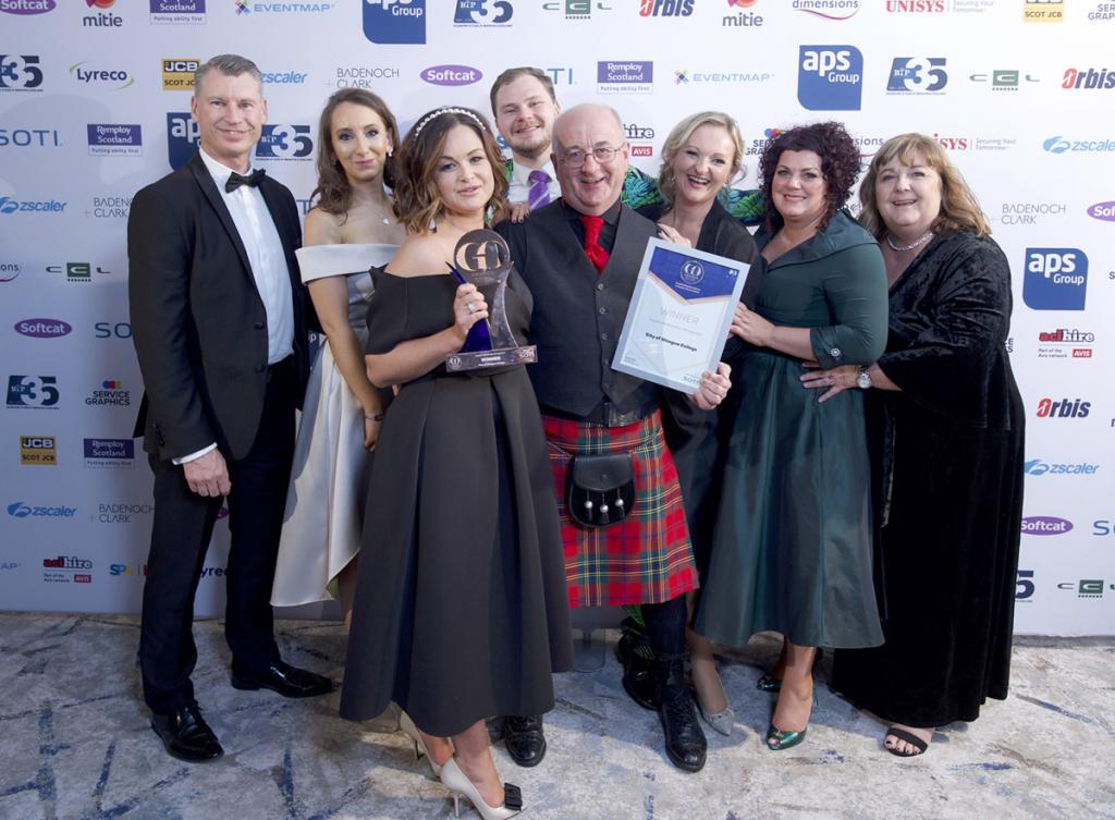 City of Glasgow College celebrate winning GO Awards Scotland 2019
