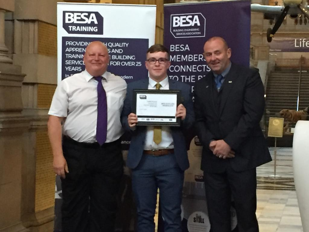Connor Harper, third place BESA Domestic Gas Apprentice of the Year