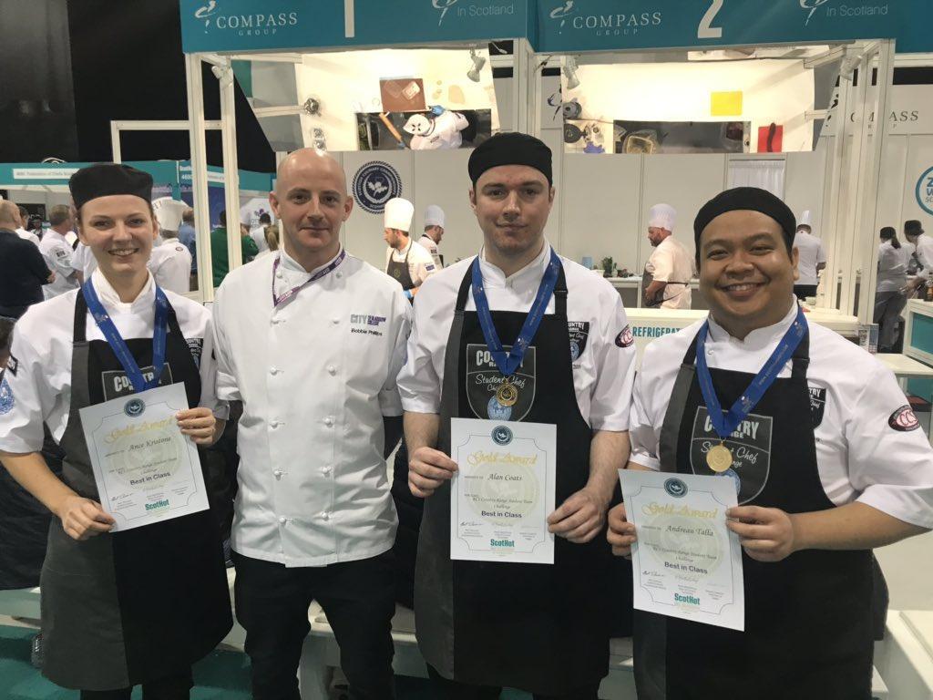 Ance Kristone, Chef Robbie Phillips, Alan Coats, Andreau Talla