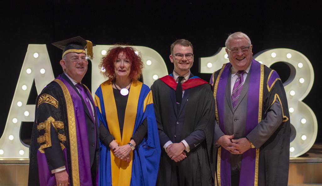 Principal Little, Dame Ruth Silver, Liam McCabe, Chair (Alisdair Barron)