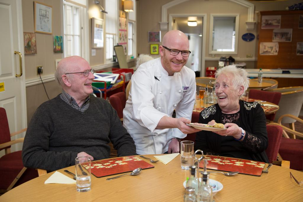 CoGC Gary MacLean serving day-patients at Glasgow Hospice