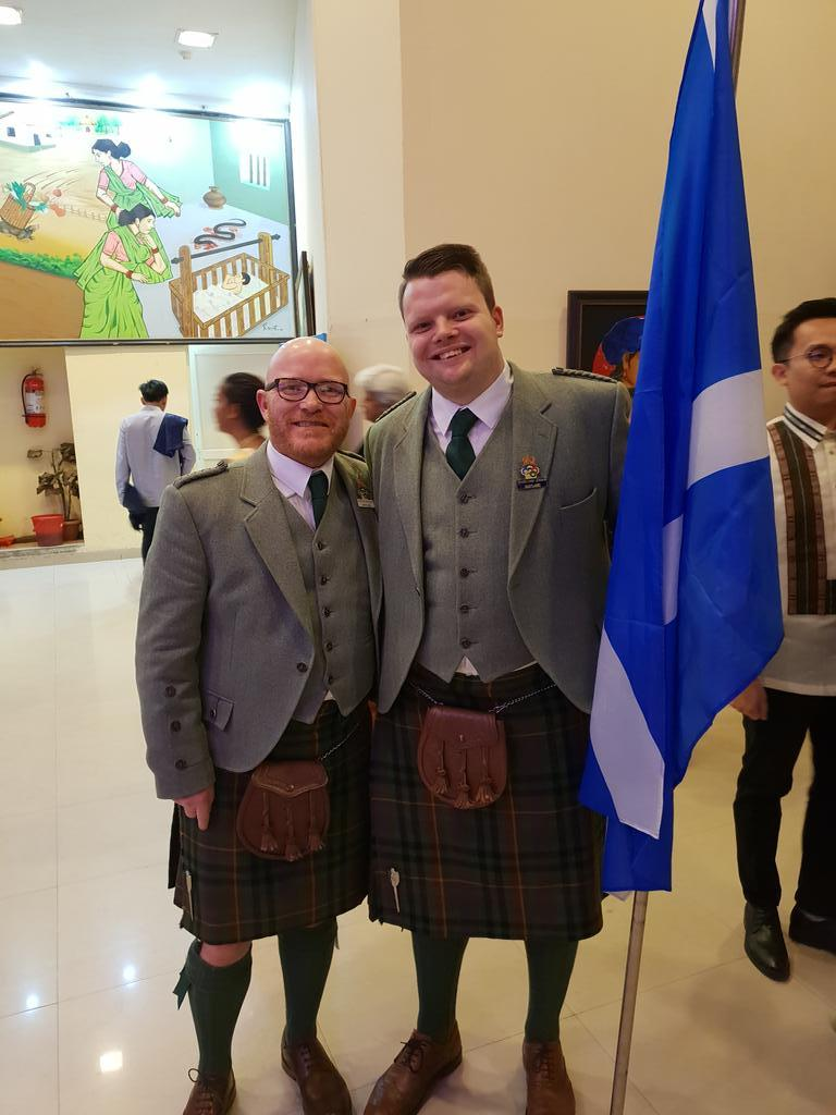 Gary MacLean and Jordan McKenzie at Young Chef Olympiad, India