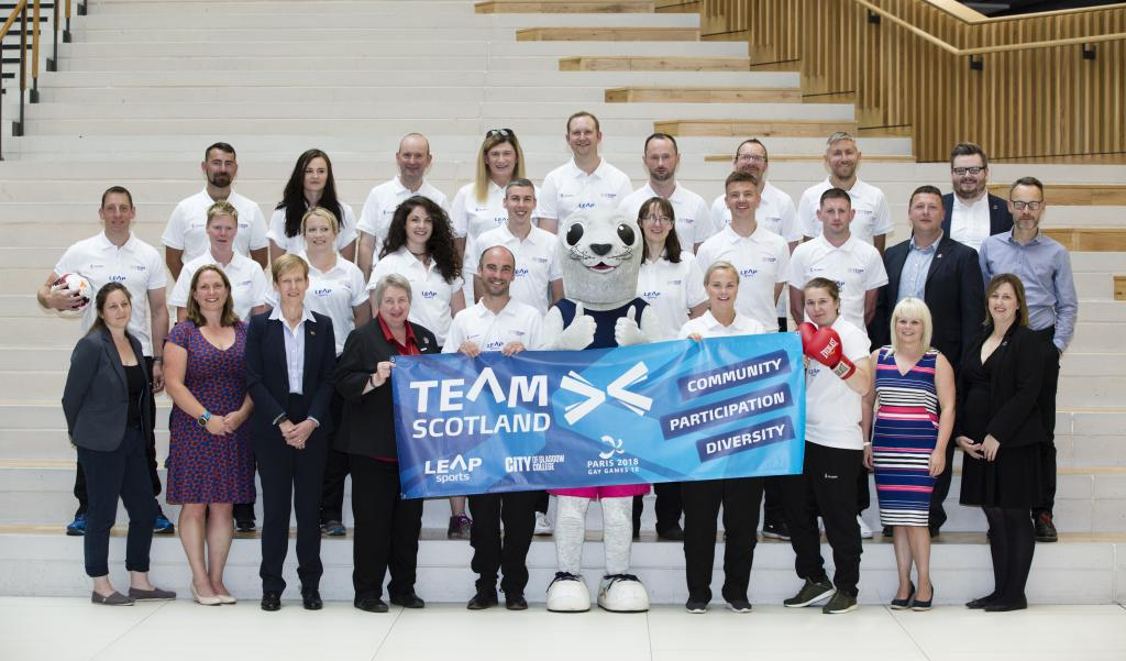 Gay Games 2018 Team Scotland with LEAP Sports, CoGC and SportScotland