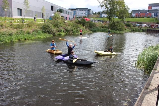 CoGC Transformable Project: canoes set sail during Glasgow Canals Festival