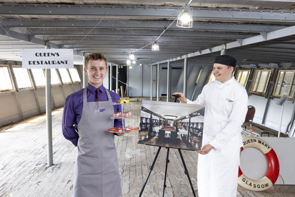 TS Queen Mary: HND Hospitality Management, Alex Dick and HND Professional Cookery, Robbie Maitland