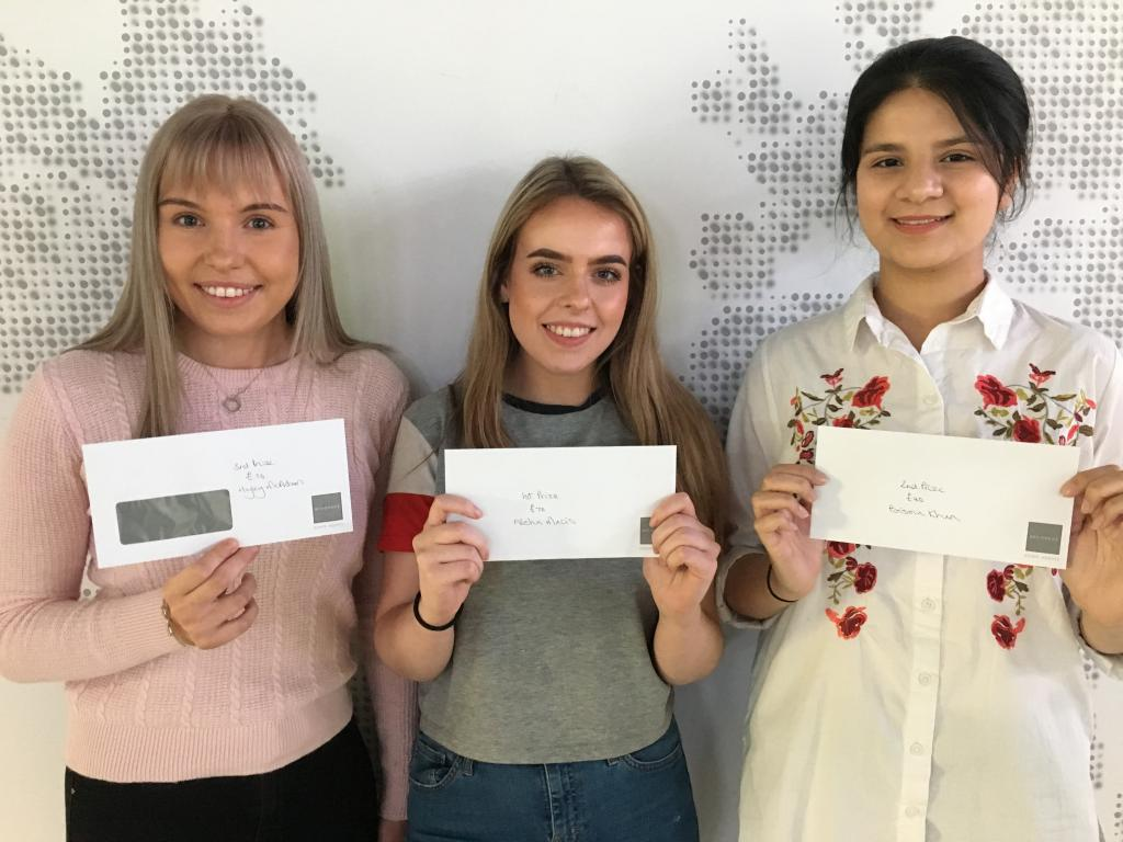 HND Legal Services Students_LtoR_Hayley McAdam, Alesha MacIs, Bisma Khan