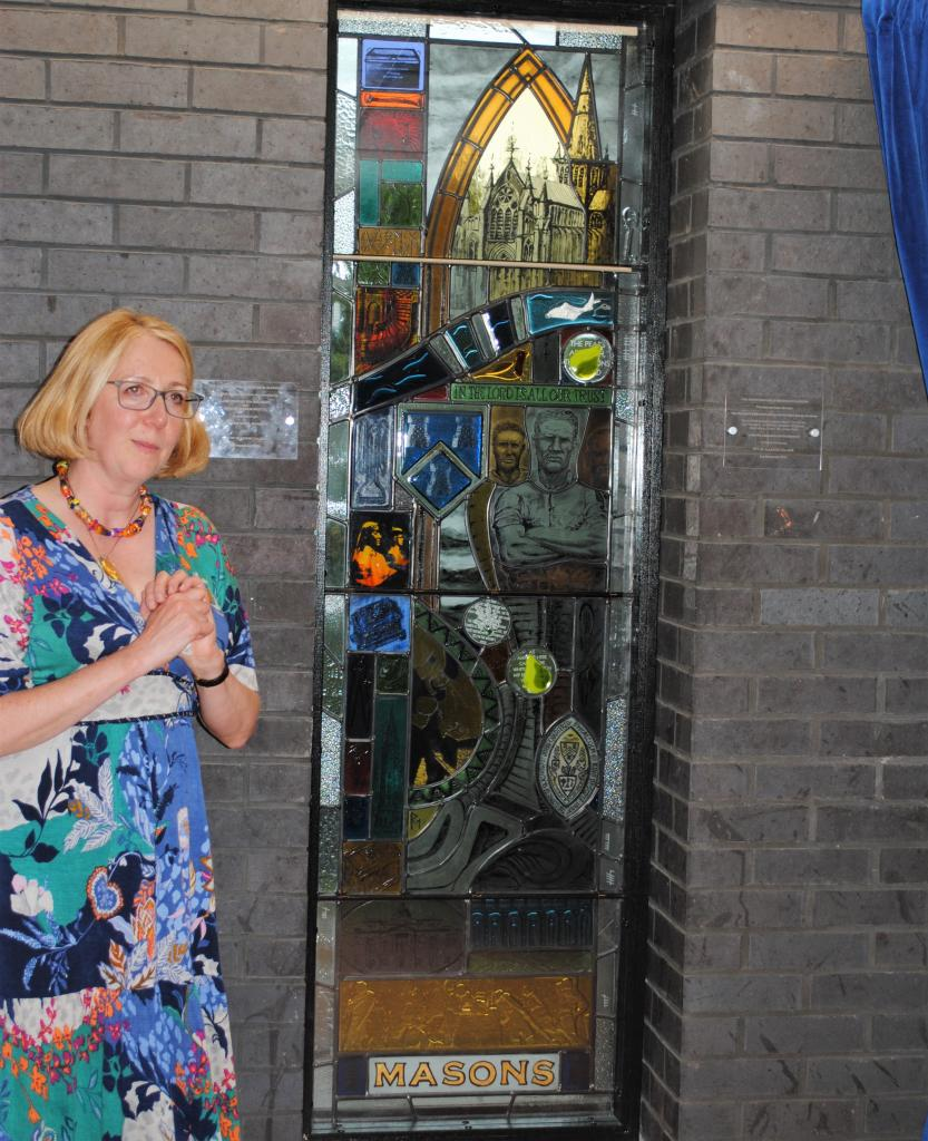 Mason's Window at Glasgow Royal Infirmary by Art Glass Design students CoGC