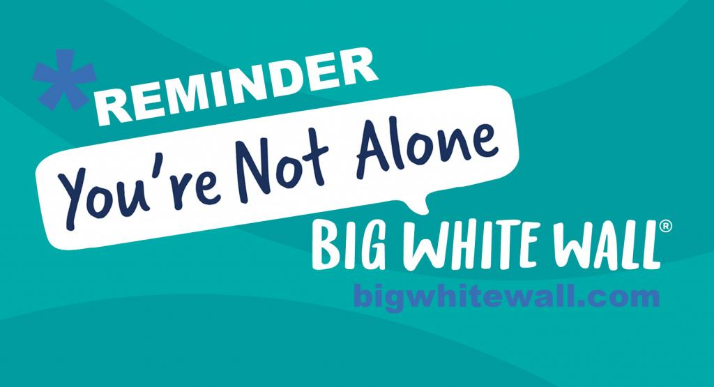 You are not alone : Big White Wall