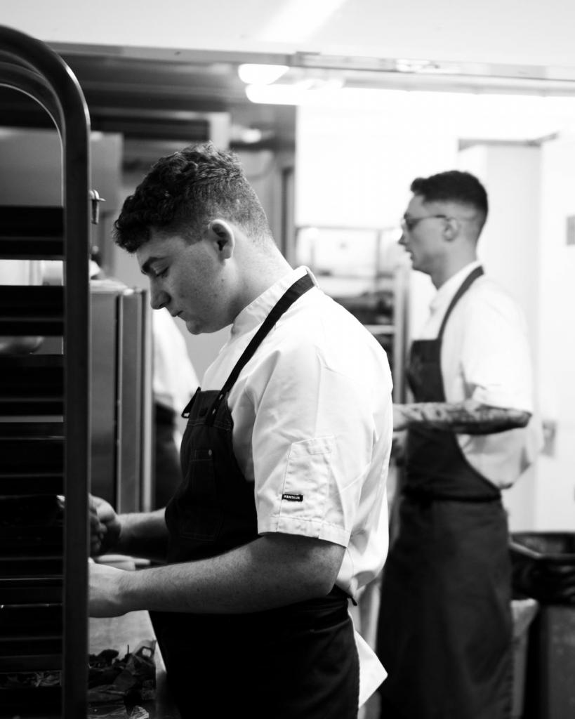 Photo of Sam Bell McLaughlan, former student working in Michelin star restaurant