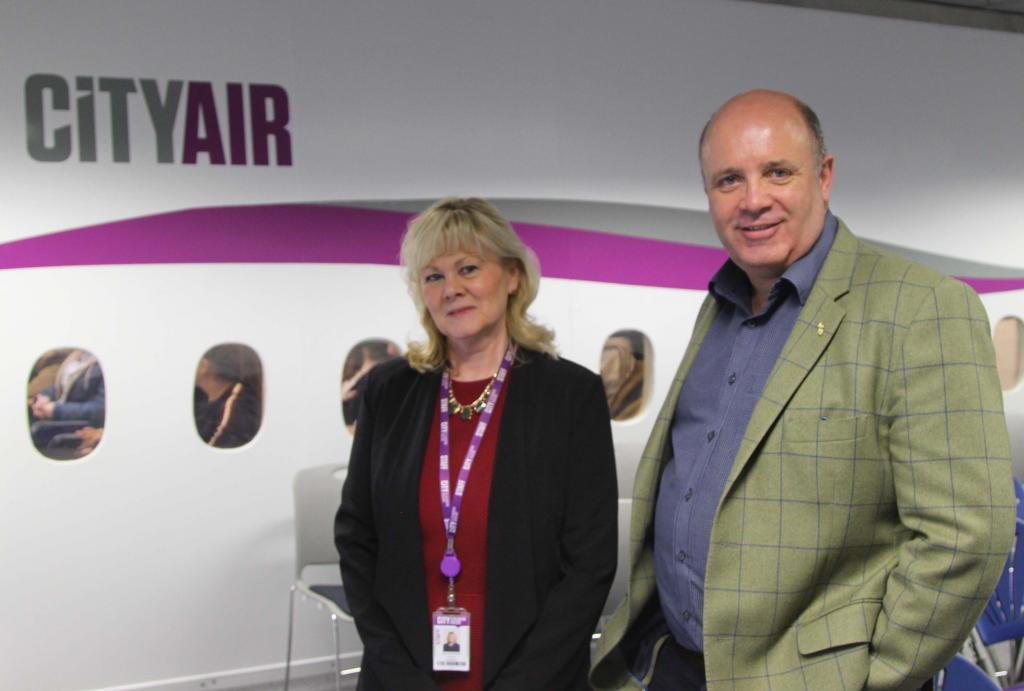 Scottish Tourism Festival LtoR: Gail Morrison, Curriculum Head Tourism; Marc Crothall CEO Scottish Tourism Alliance