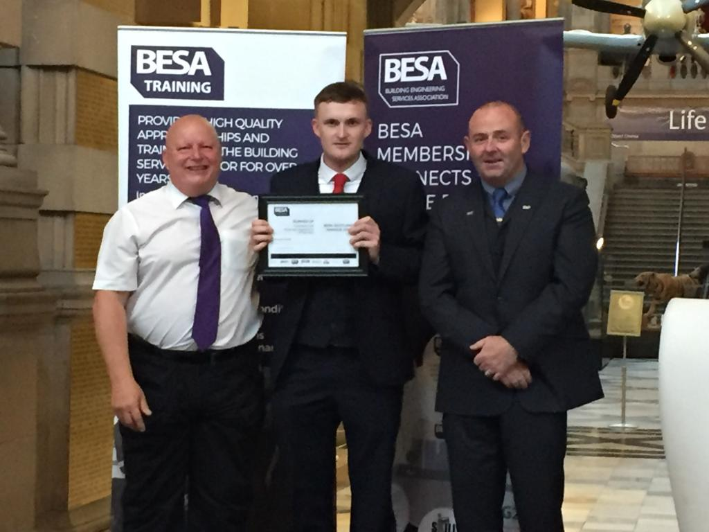 Stewart Smith, runner up BESA Domestic Gas Apprentice of the Year