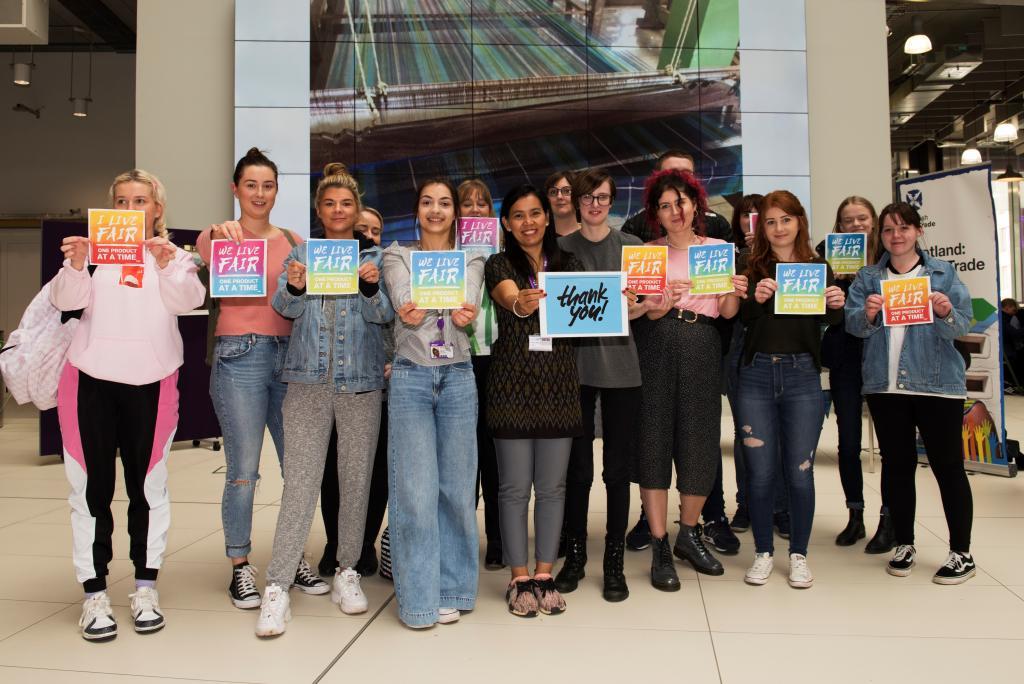 World Fair Trade Tartan Exhibit_Marketing & Retail students (Fair Trade Scottish Forum pix)