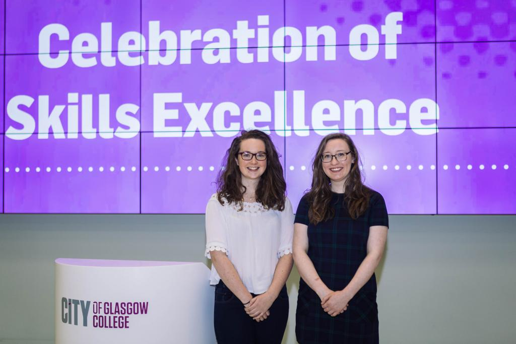 WorldSkills Celebration_LtoR_Victoria Cox (Silver in Confectionary) Rebecca Ward (Gold in Confectionary)