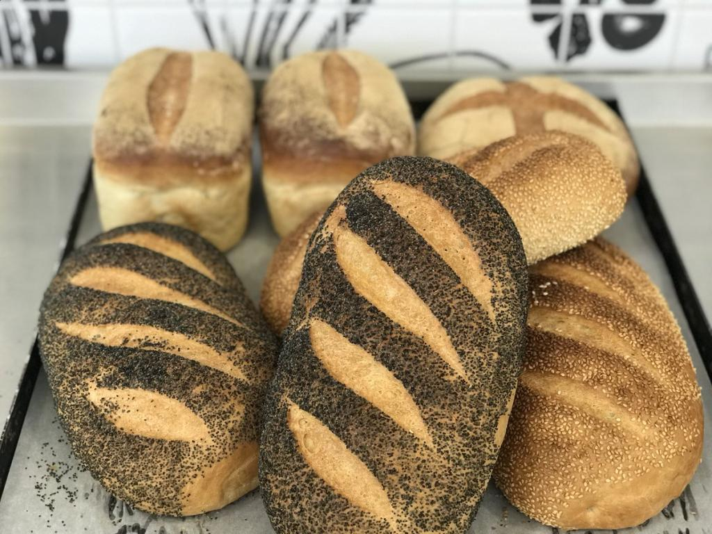 Crusty bread produced by bakery students
