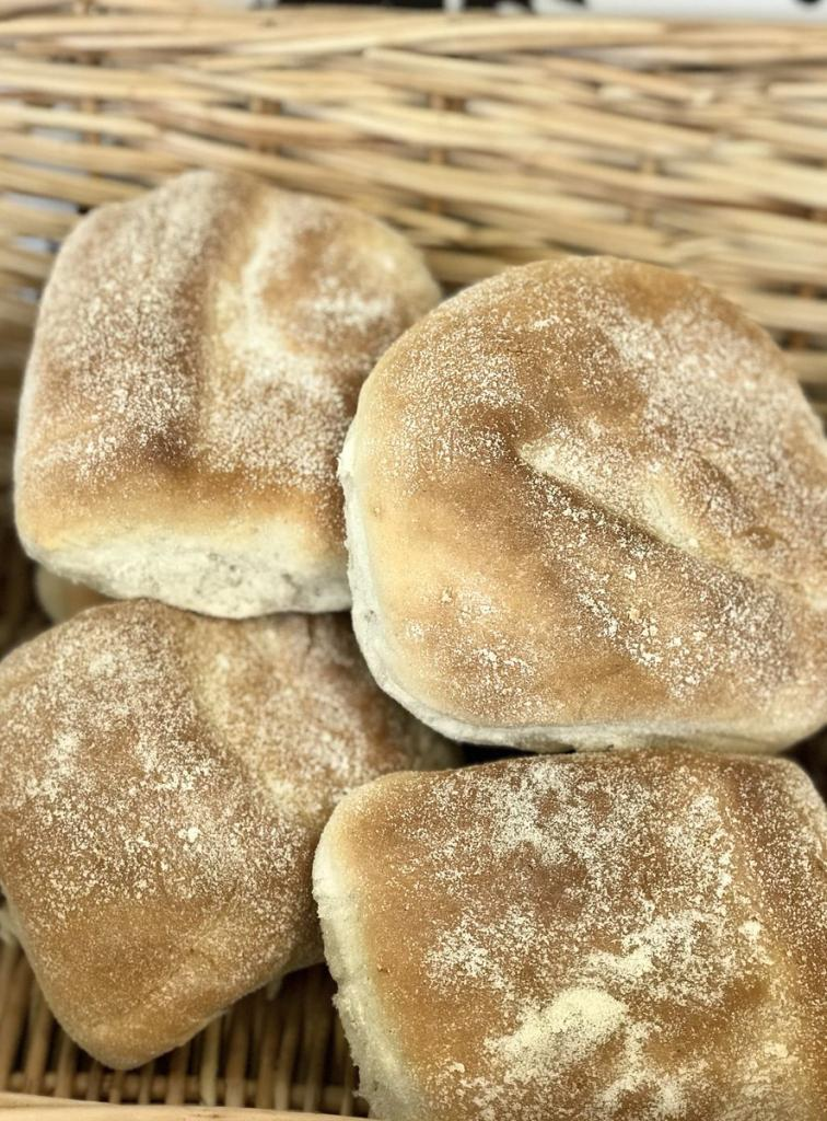 Freshly made rolls for sale at City Market.