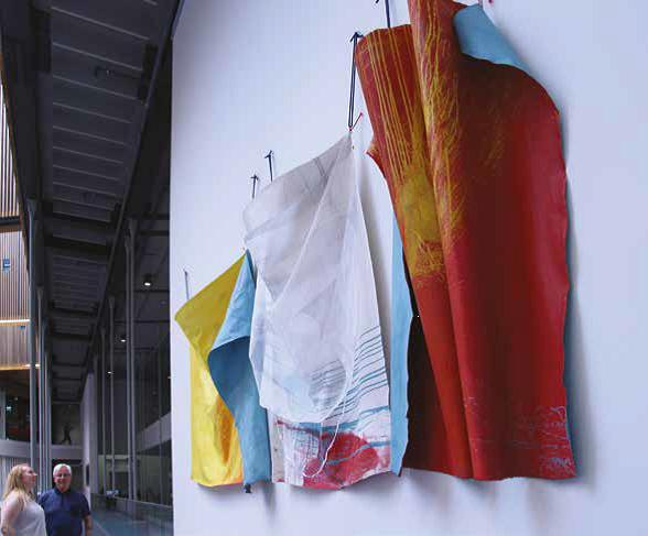 Fabric on a wall