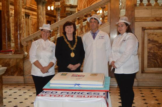 Armed forces Day Cake - Lord Provost and City of Glasgow College