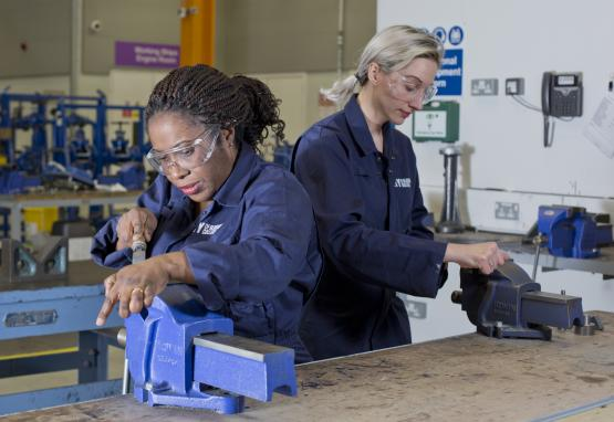 HND Engineering Students, Bumni (left) and Laura (right), key speakers at Women into Engineering