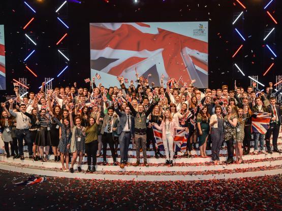 Worldskills UK squads celebrating
