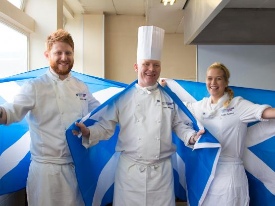 Student Darren Seggie, lecturer Gary MacLean and student Lenka Faksoba pictured.