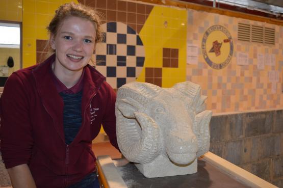 City of Glasgow College Stonemasonry student, Karen Gemmell