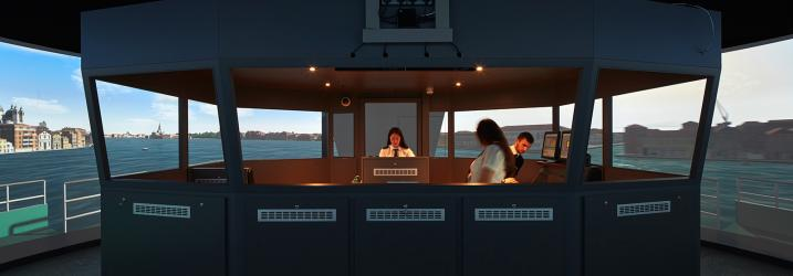 Ship simulator at Riverside Campus