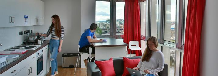 Student communal area in our Student Accommodation building.