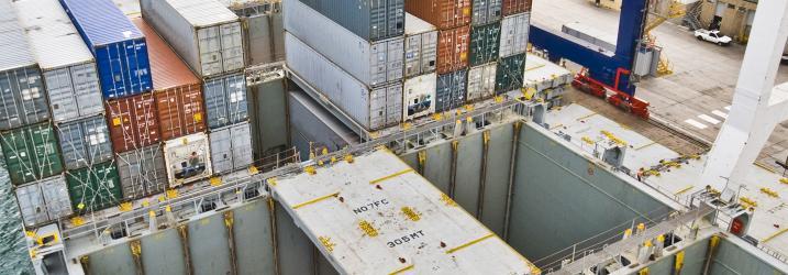Container storage area.