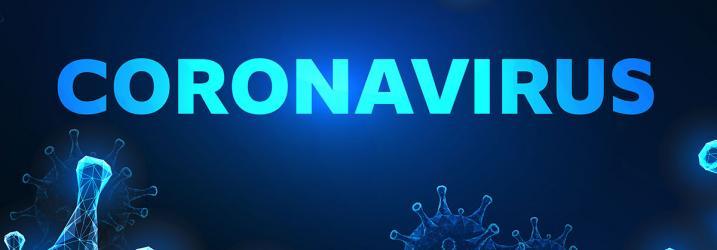 Close up of coronavirus.