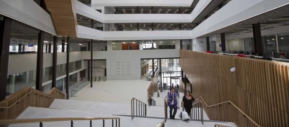 Atrium at City campus.