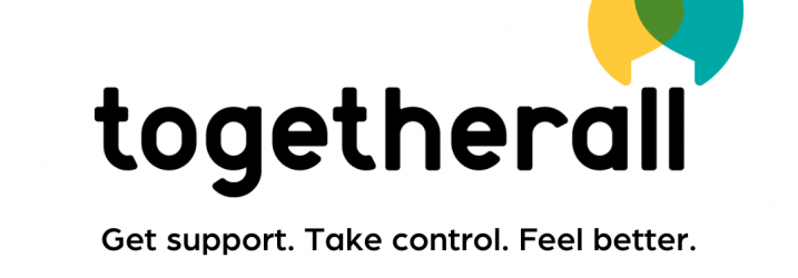 Togetherall logo - get support, take control, feel better.