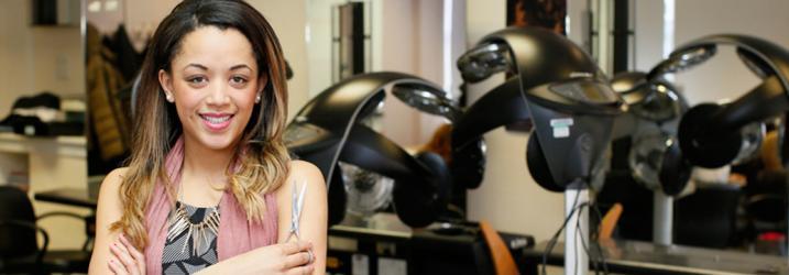 Student hairdresser pictured in salon