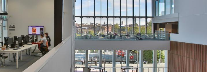 View over our Riverside Campus Atrium