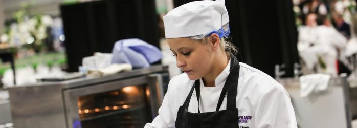 City of Glasgow College chef student during WorldSkills competition