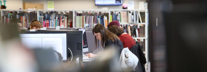 Student studying in our City Campus Library